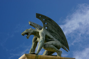 gargoyle of bridge of kingdom. Valencia. Spain