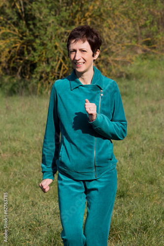 Woman doing jogging in the park