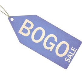 BOGO Sale Blue Tag and String
