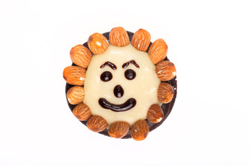 funny candy with almonds
