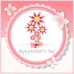 Happy Mother`s Day background or card.