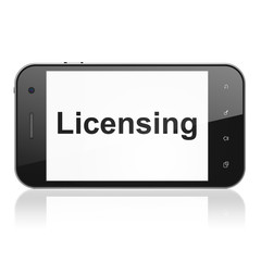 Law concept: Licensing on smartphone