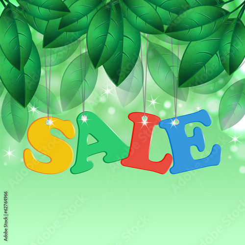 Seasonal sale and spring foliage