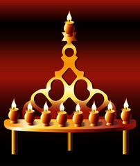 20 th Century Poland Hanukkah Menorah