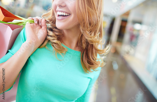 Smile of shopper