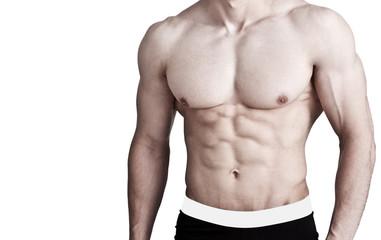 Muskulöser Männeroberkörper - Waschbrettbauch
