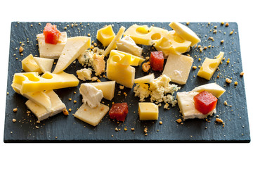 Cheese platter isolated.