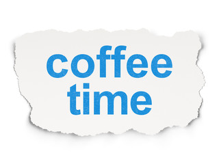 Time concept: Coffee Time on Paper background