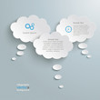 3 White Paper Clouds