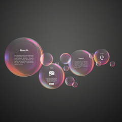 Infographics Soap Bubble