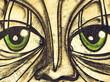 Fototapete Auge - Pupille - Graffiti