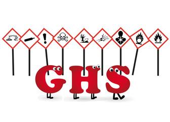 GHS Symbole Hintergrund