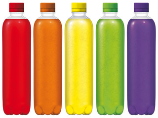 Bottiglie bollicine vari gusti 500ml
