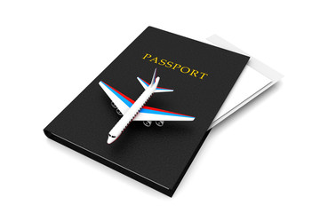 Airplane and Passport