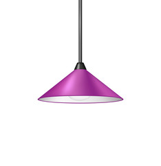 Retro purple hanging lamp