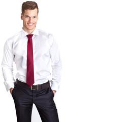 Sympathischer junger Geschäftsmann - freigestellt