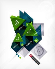 Futuristic abstract 3d infographic composition