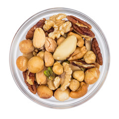 Various Nuts in Bowl Top