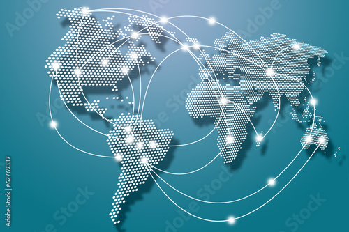 canvas print picture Global connection