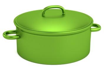 realistic 3d render of pot