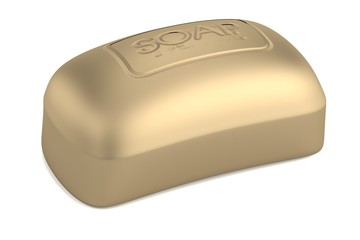 realistic 3d render of soap