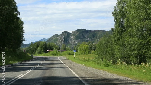 Travel along the roads of the Altai Krai. Russia.