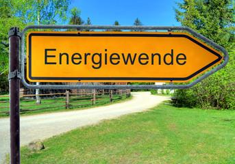 Strassenschild 3 - Energiewende