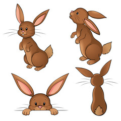 Osterhasen Set Kaninchen