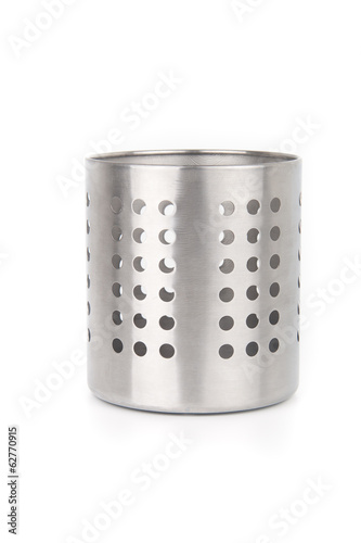 Cutlery holder isolated on white background
