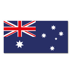 Australien Flagge Icon Button