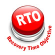 3d illustration of rto recovery time objective button