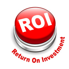 3d illustration of roi (return on investment) button