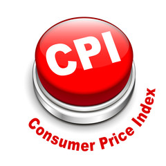 3d illustration of CPI ( Consumer Price Index ) button