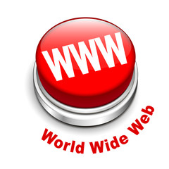 3d illustration of WWW ( World Wide Web ) button