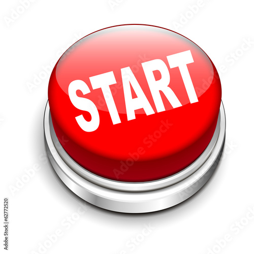 3d illustration of start button