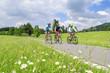 Drei entspannte Mountainbiker