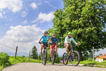 Drei Mountainbiker