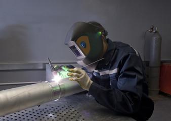Metal Welder at work