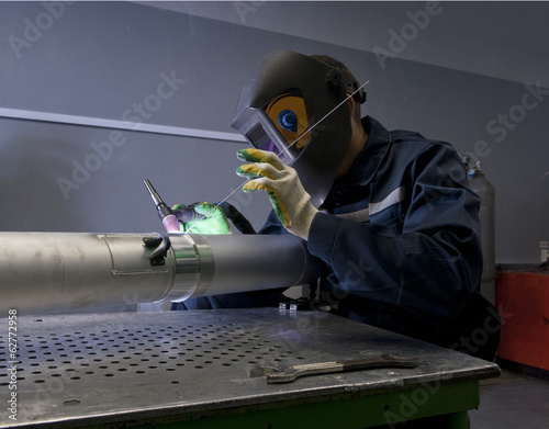 Metal Welder at work