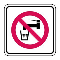 Logo eau non potable.