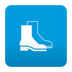 Etiqueta tipo app azul simbolo calzado de seguridad