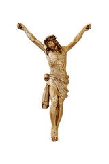Jesus without cross isolated in white