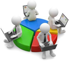 Männchen Geschäftspartner Anleger Teilhaber