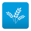 Etiqueta tipo app azul simbolo agricultura
