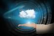 Hand presenting cloud