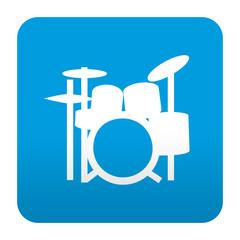 Etiqueta tipo app azul simbolo bateria
