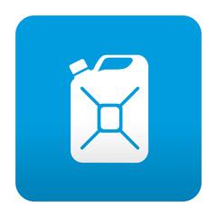 Etiqueta tipo app azul simbolo bidon de gasolina