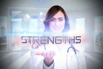 Strengths against global business hologram