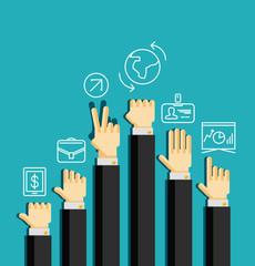 Businessman's hands, gestures