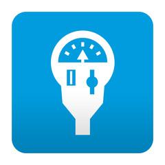 Etiqueta tipo app azul simbolo parquimetro